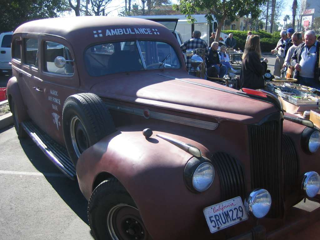 """1941 Henney bodied ambulance on Super Eight 160 148"""" Chassis"""