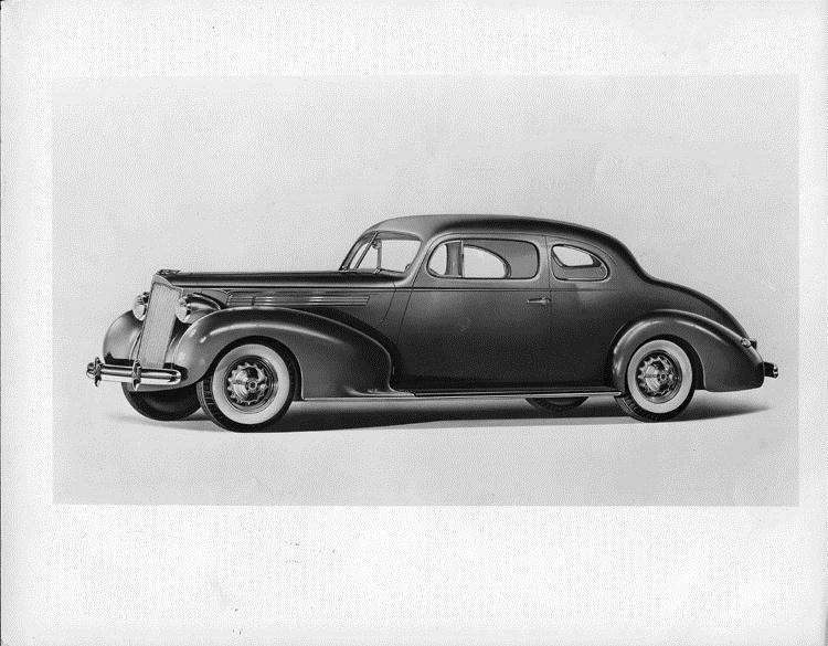 1939 Packard club coupe, nine-tenths left side view