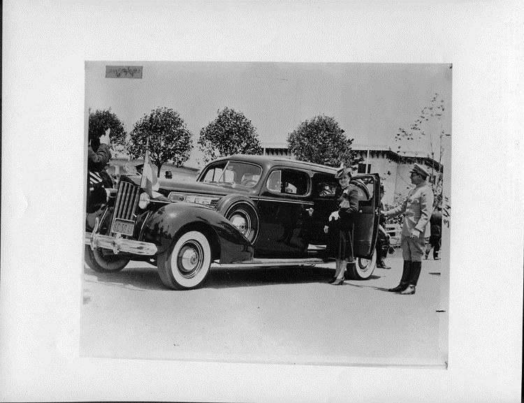1939 Packard touring sedan and Lillian Somoza, daughter of Nicaraguan dictator