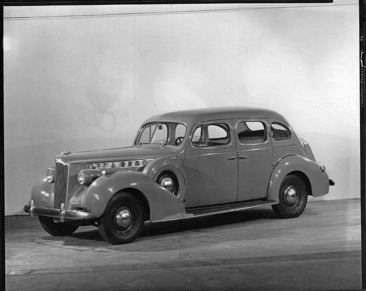 1940 Packard touring sedan, seven-eights left side view