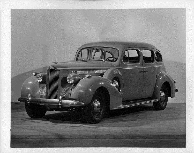 1940 Packard touring sedan, three-quarter front view