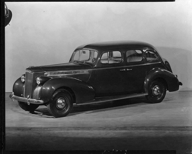1940 Packard touring sedan, three-quarter left side view