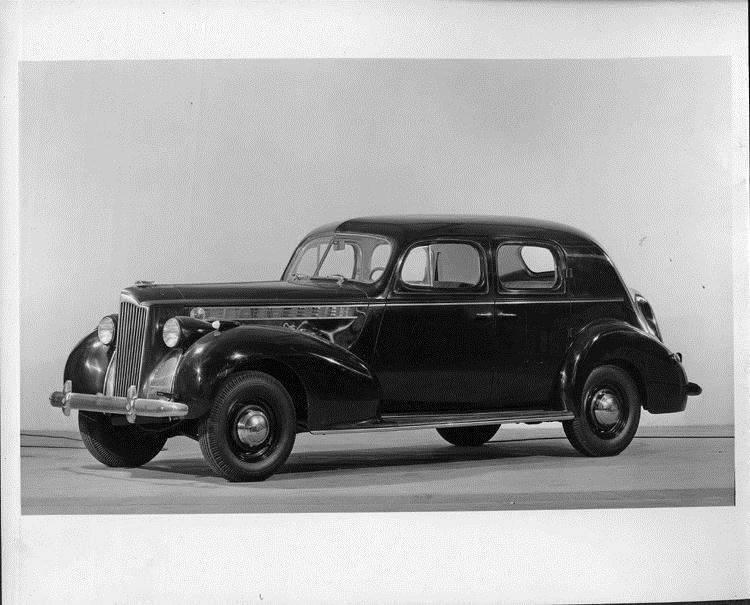 1940 Packard club sedan, seven-eights left side view