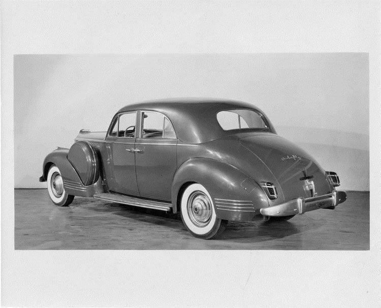 1941 Packard sport brougham, three-quarter rear view