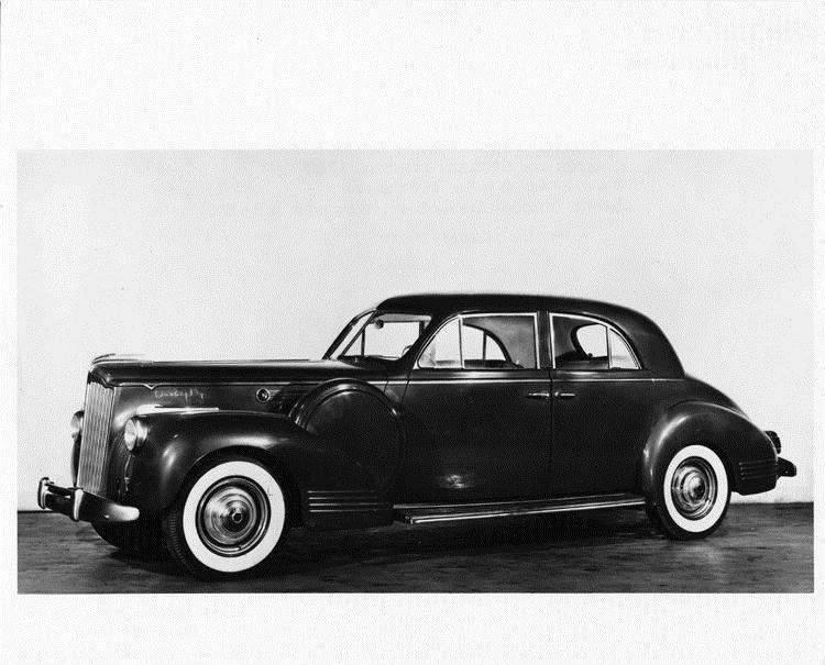 1941 Packard sport brougham, left side view