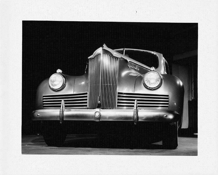 1942 Packard convertible coupe, close-up for front grille and radiator