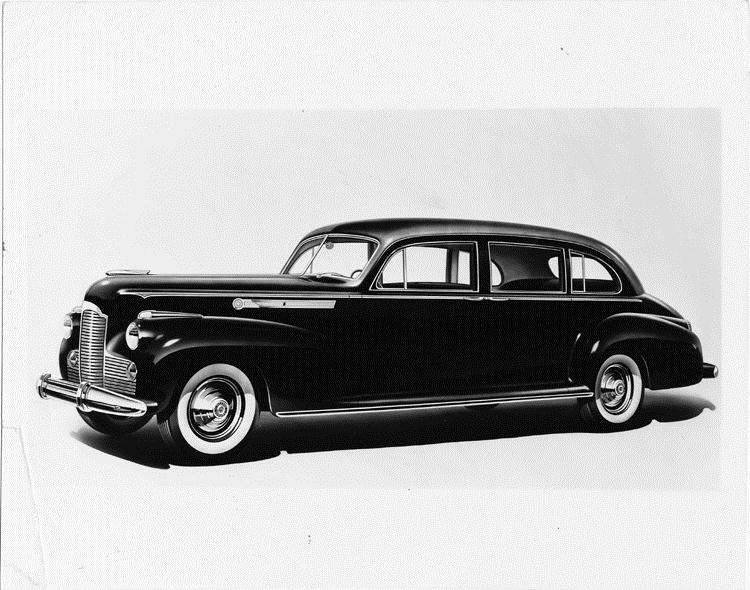 1942 Packard touring sedan and touring limousine, nine-tenths left front view