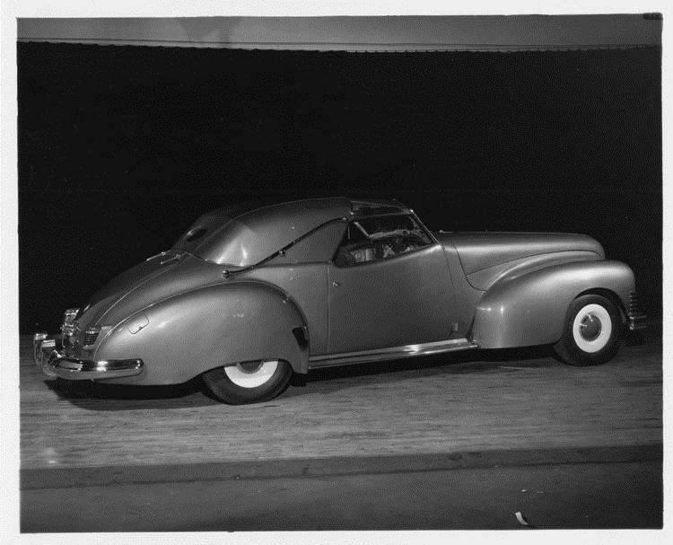 1944 Packard Brown Bomber, nine-tenths rear left view