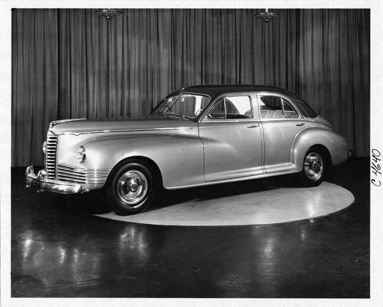 1946 Packard Clipper sedan, three-quarter left side view