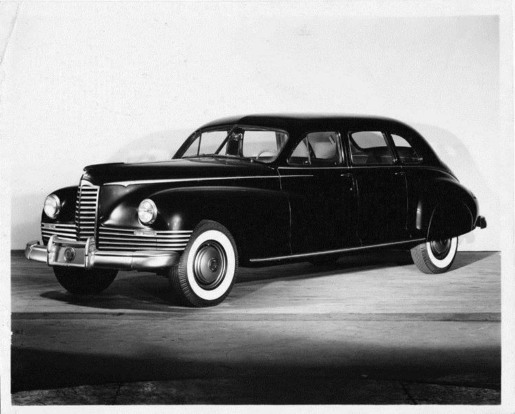 1946 Packard limousine, three-quarter left side view