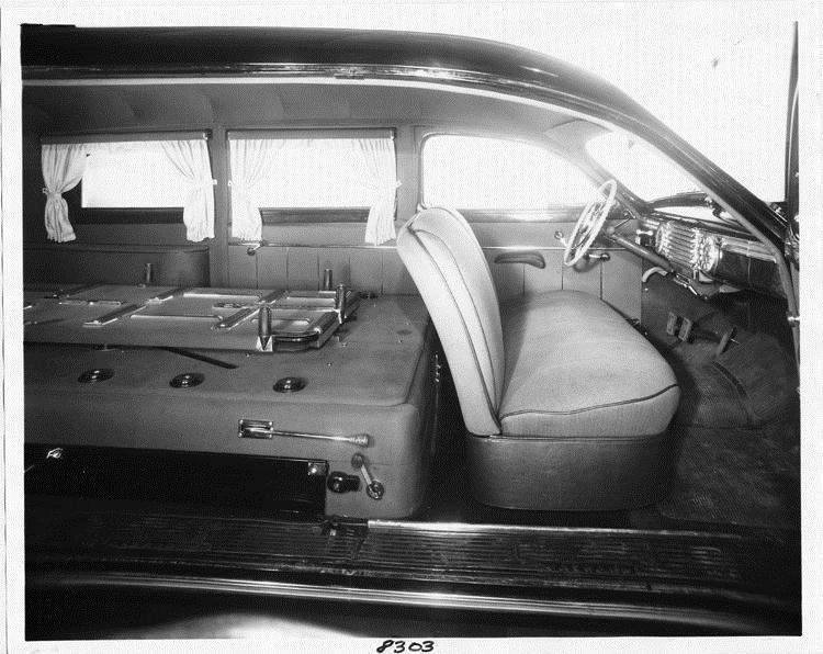 packard motor car information 1946 packard funeral limousine view of interior from right side. Black Bedroom Furniture Sets. Home Design Ideas