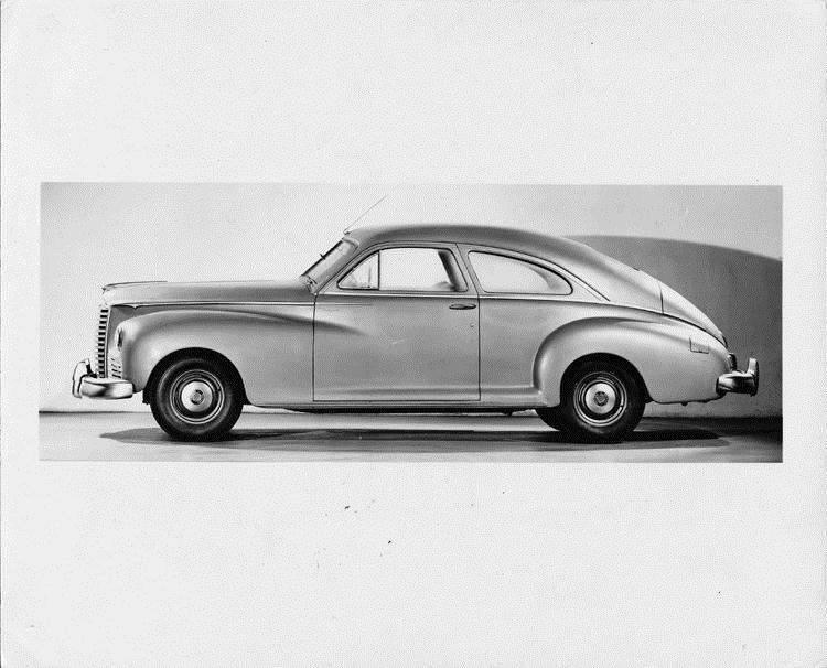 1947 Packard club sedan, left side view