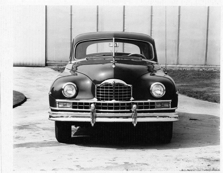1949 Packard sedan, front view