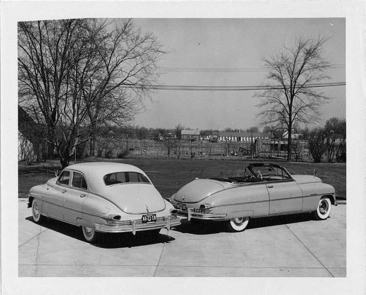 1949 Packards, three-quarter rear view
