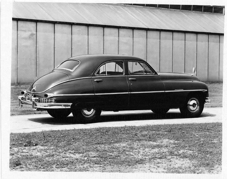 1949 Packard sedan, seven-eights rear left view