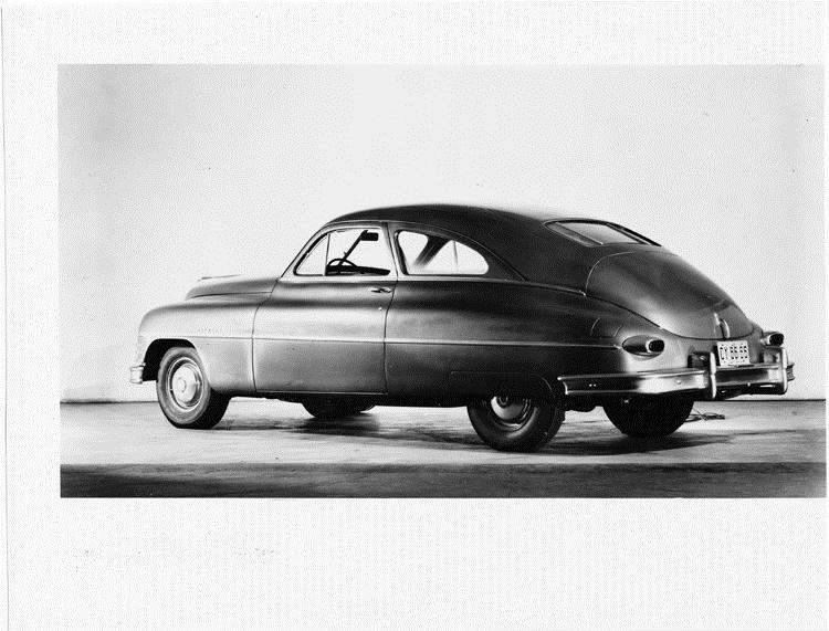 1949 Packard sedan, seven-eights rear right view