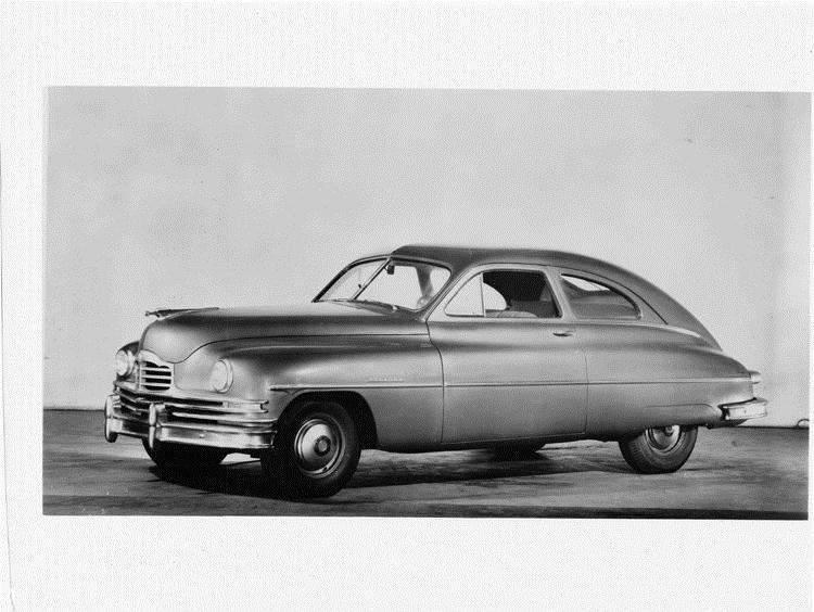 1949 Packard sedan, seven-eights left side view