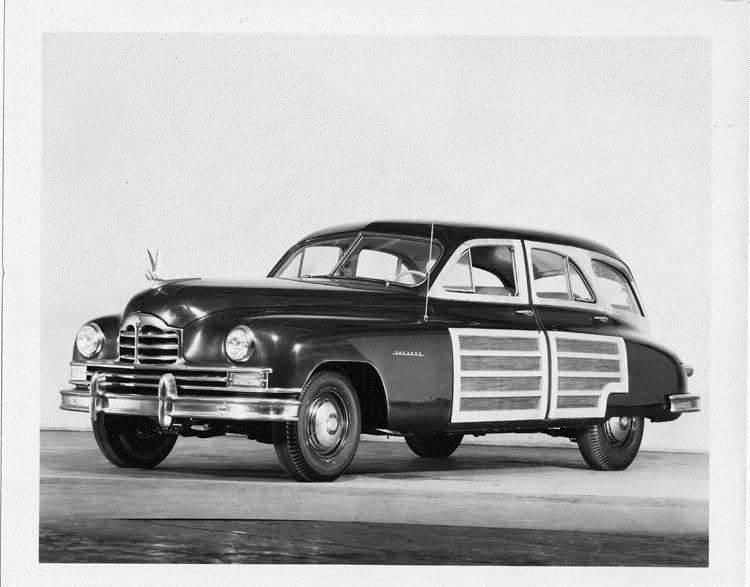 1949 Packard station sedan, three-quarter left side view