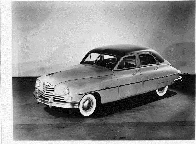1949 Packard sedan, three-quarter left side view