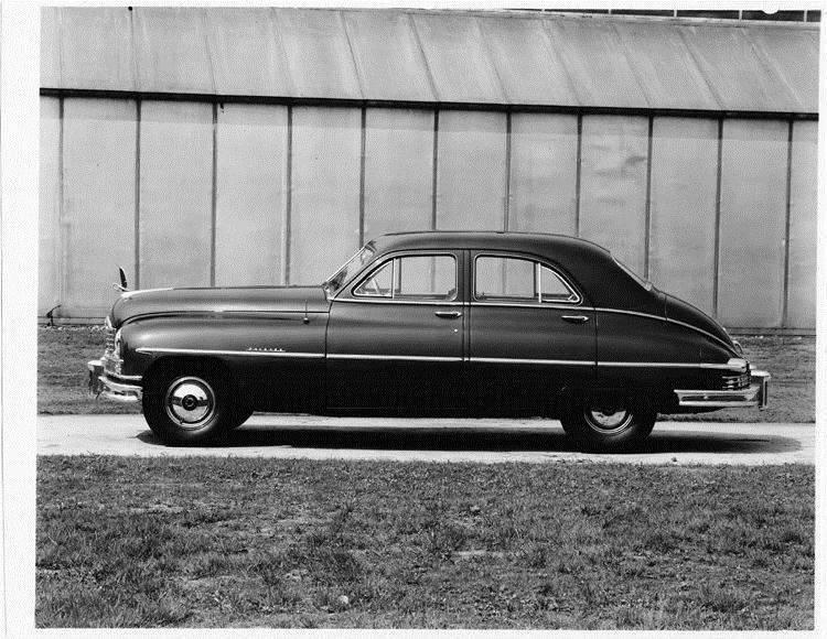 1949 Packard sedan, left side view