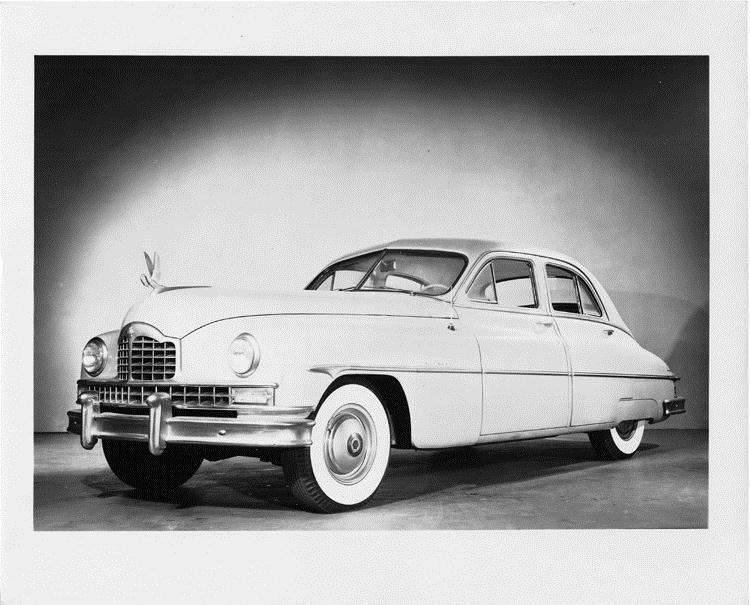 1949 Packard sedan, three-quarter left front view