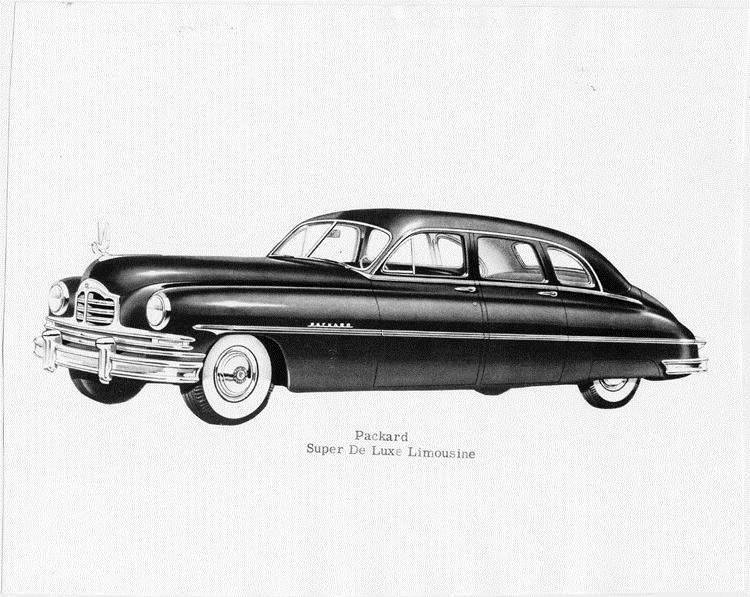 1950 Packard super deluxe limousine, seven-eights left side view