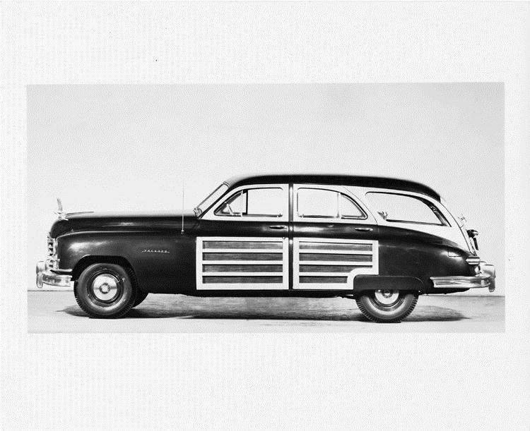 1950 Packard station sedan, left side view