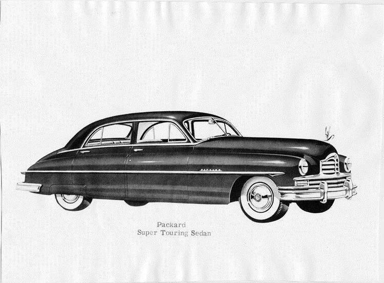 1950 Packard super touring sedan, seven-eights right side view