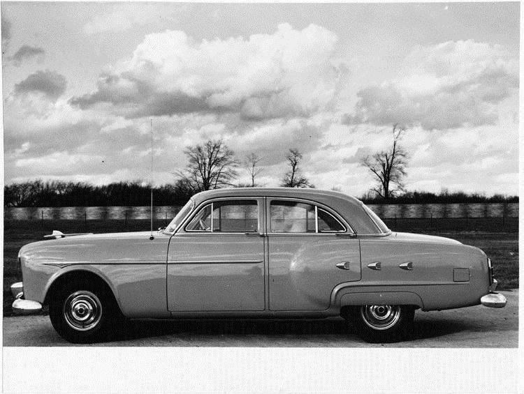 1951 Packard sedan, left side view