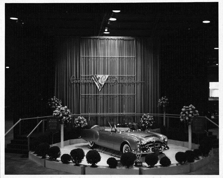 1952 Packard Pan American sports car at Los Angeles Autorama