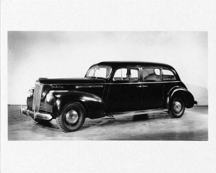 1942 Packard sedan, seven-eights left side view