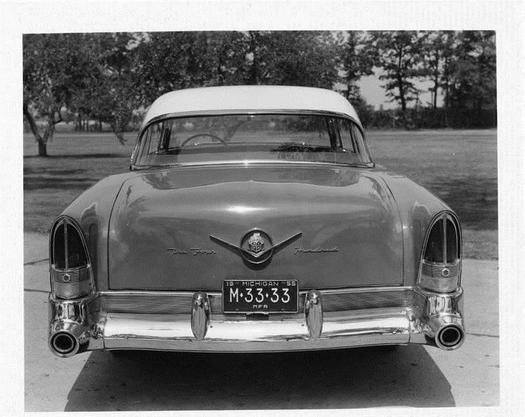 1956 Packard sedan, rear view