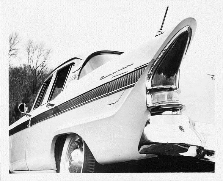 1957 Packard Clipper, three-quarter rear close-up view