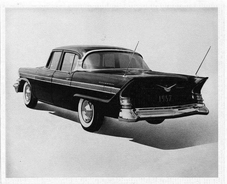 1957 Packard Clipper, three-quarter rear left view