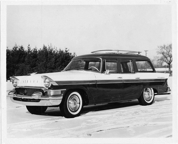 1957 Packard station wagon, three-quarter left side view
