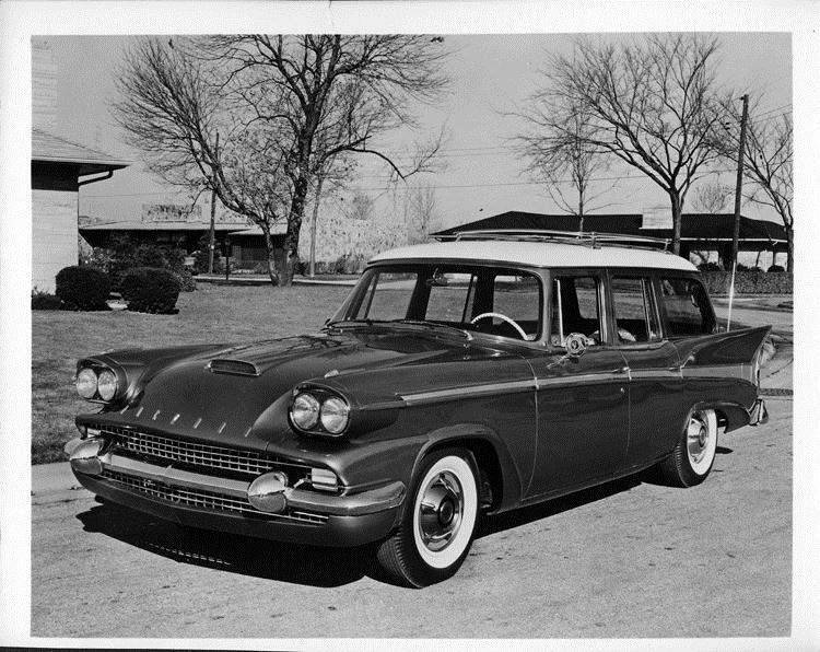 1958 Packard station wagon, three-quarter front left view