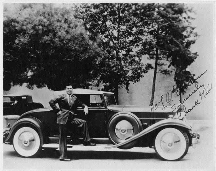 1932 Packard coupe roadster and owner Clark Gable