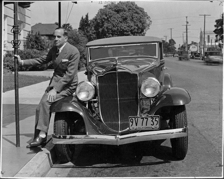 1932 Packard coupe roadster and owner Al Jolson