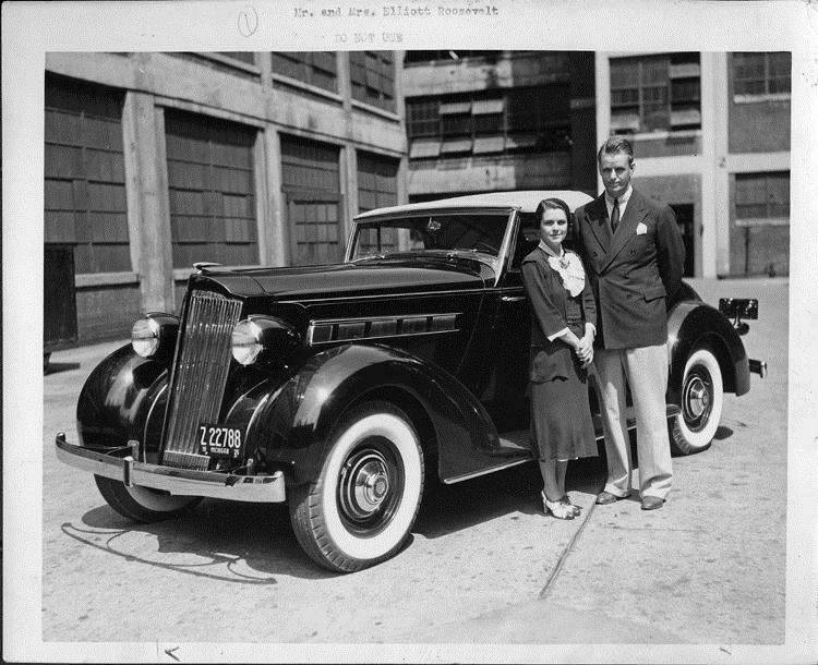 1935 Packard 120 convertible coupe delivered to Mr. and Mrs. Elliott Roosevelt