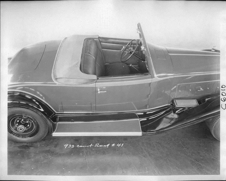 1932 Packard prototype coupe roadster, view from above