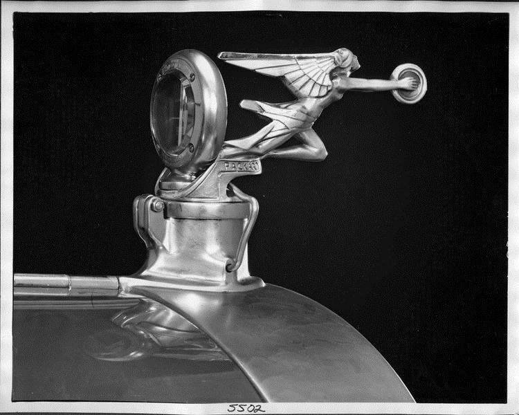 1925-26 Packard Goddess of Speed hood ornament, right rear view