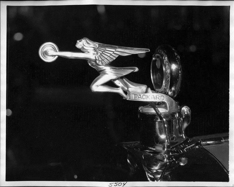 1925-26 Packard Goddess of Speed hood ornament, left side view