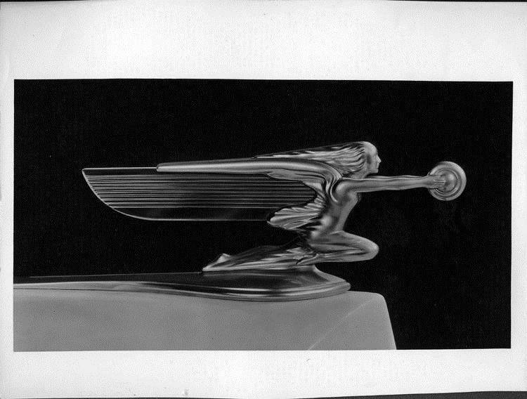 Packard Goddess of Speed hood ornament, right side view