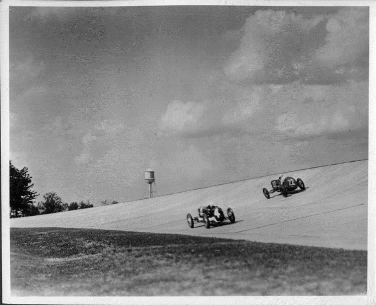 1928 Packard race cars at Packard Proving Grounds inauguration