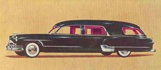 1953 PACKARD-HENNEY LIMOUSINE NU-3-WAY SIDE FUNERAL CAR