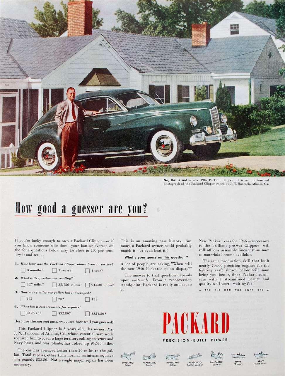 1945 Packard Ad