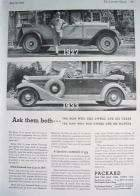 1933 PACKARD ADVERT-B&W