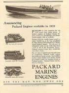 1929 PACKARD MARINE ADVERT-B&W