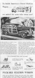 1941 PACKARD STATION WAGON ADVERT-B&W