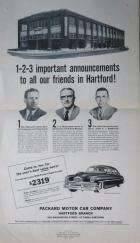 1950 PACKARD ADVERT-B&W